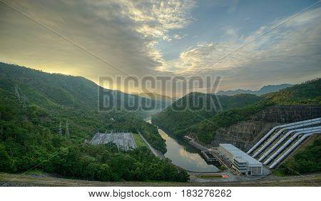Concrete Dam For Hydro Electric Power Plant