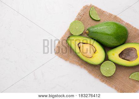Healthy Food Concept. Fresh Organic Avocado On Table