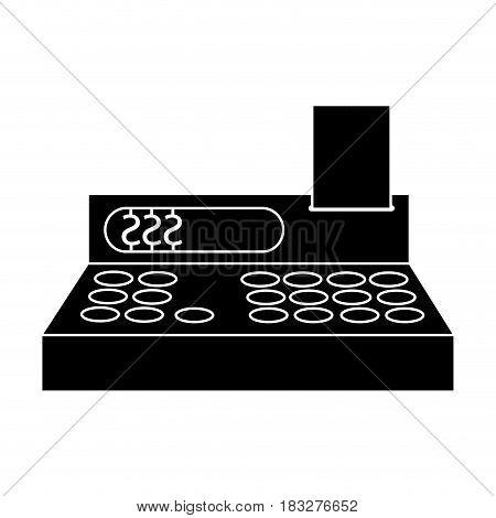 cash register icon image vector illustration design  inverted black and white