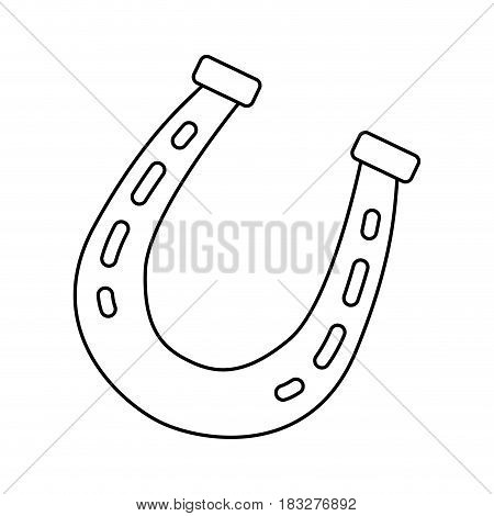 Horse shoe isolated icon vector illustration graphic design