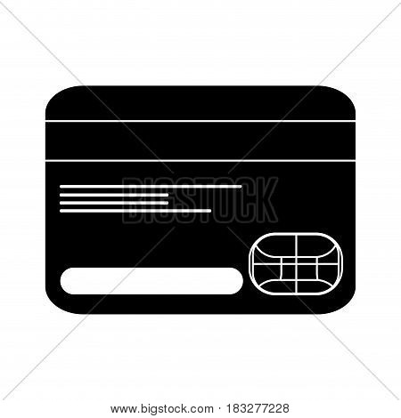 credit or debit card icon image vector illustration design  inverted black and white