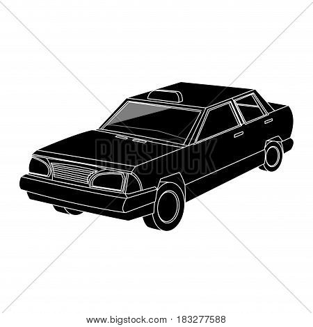 vintage 90s style taxi car icon image vector illustration design  inverted black and white