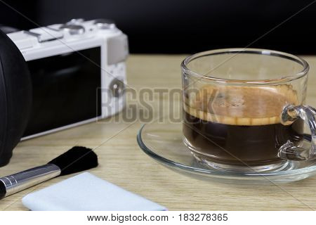 Is a brewed drink prepared from roasted coffee beans.