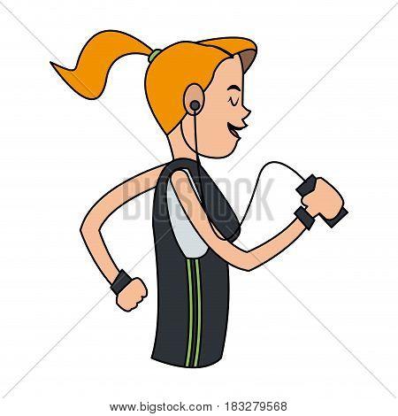 person using phone icon image vector illustration design