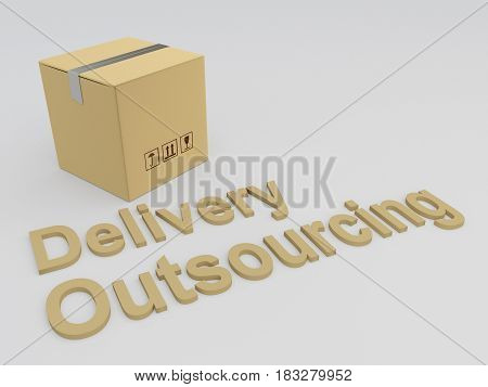 Delivery Outsourcing Concept