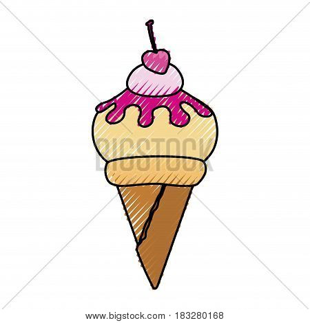 Delicious ice cream icon vector illustration graphic design