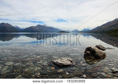 Lake Wakatipu, On The Way To Glenorchy, New Zealand