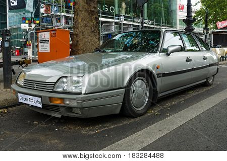 BERLIN - JUNE 14 2015: Mid-size luxury car Citroen CX Turbo. The Classic Days on Kurfuerstendamm.