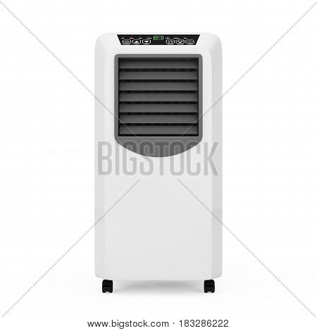 Portable Mobile Room Air Conditioner on a white background. 3d Rendering.