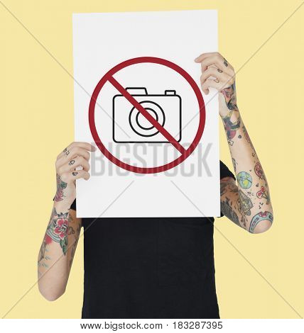 Not Allowed Camera Sign Icon Symbol