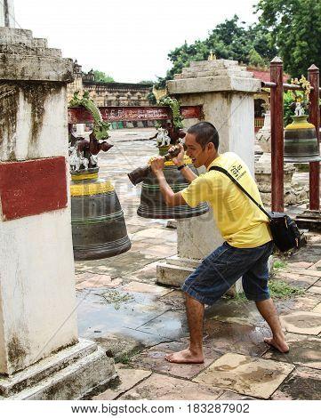 Tourists At Bagan, Myanmar