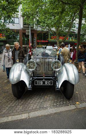 BERLIN - JUNE 14 2015: Luxury car Rolls-Royce Phantom I 1925. The Classic Days on Kurfuerstendamm.