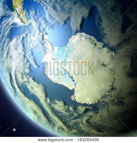 Antractic From Orbit