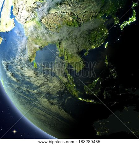 Southeast Asia From Orbit