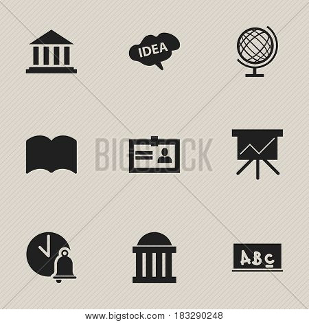 Set Of 9 Editable Education Icons. Includes Symbols Such As Certification, Mind, Chart Board And More. Can Be Used For Web, Mobile, UI And Infographic Design.