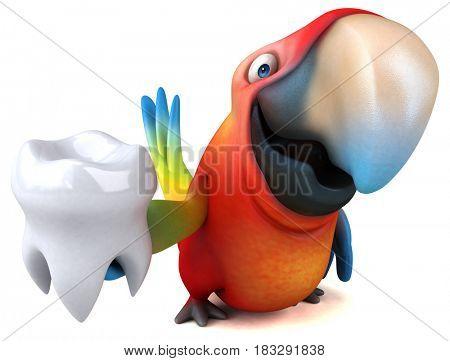 Fun parrot - 3D Illustration