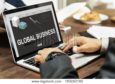 Global Business Trading Strategy Development Concept