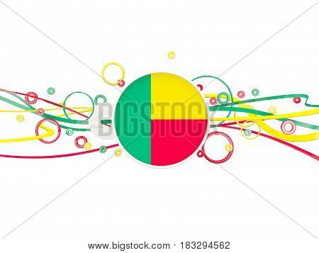 Flag Of Benin, Circles Pattern With Lines