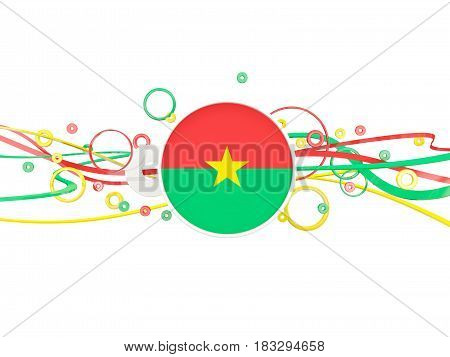 Flag Of Burkina Faso, Circles Pattern With Lines