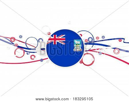 Flag Of Falkland Islands, Circles Pattern With Lines