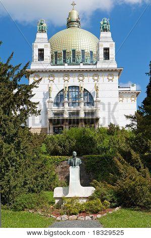 Otto Wagner church Vienna famous art nouveau building poster