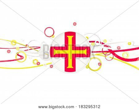 Flag Of Guernsey, Circles Pattern With Lines