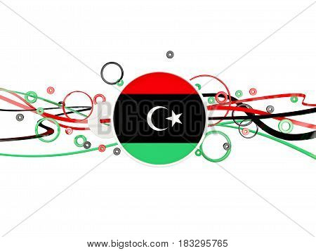 Flag Of Libya, Circles Pattern With Lines