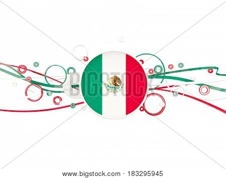 Flag Of Mexico, Circles Pattern With Lines