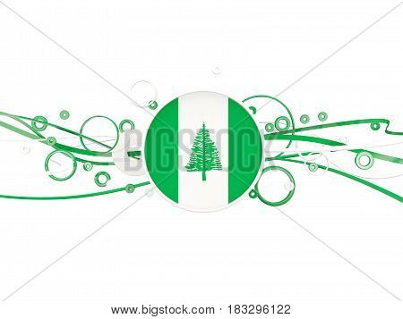 Flag Of Norfolk Island, Circles Pattern With Lines