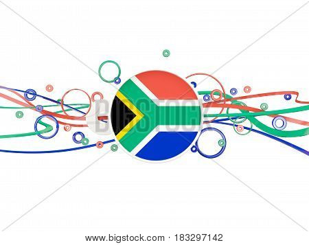 Flag Of South Africa, Circles Pattern With Lines