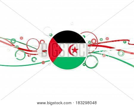 Flag Of Western Sahara, Circles Pattern With Lines