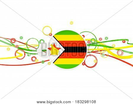 Flag Of Zimbabwe, Circles Pattern With Lines