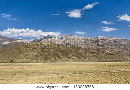 Panoramic View Of Panamint Valley Desert