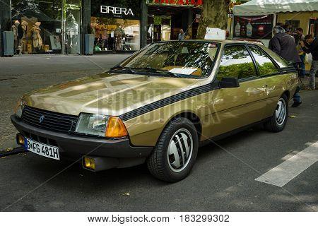 BERLIN - JUNE 14 2015: Sport compact Renault Fuego GTX 2.0 1981. The Classic Days on Kurfuerstendamm.