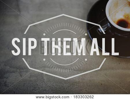 Coffee Break Time Leisure Concept