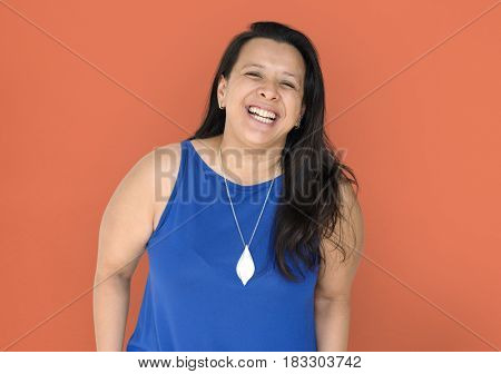Happiness woman is smiling to camera