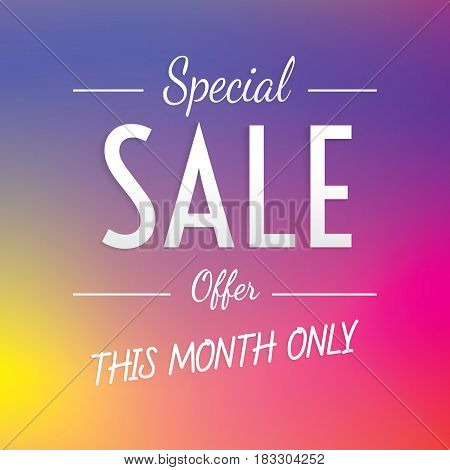 Special Sale Heading Colorful Design For Banner Or Poster. Sale And Discounts. Vector Illustration
