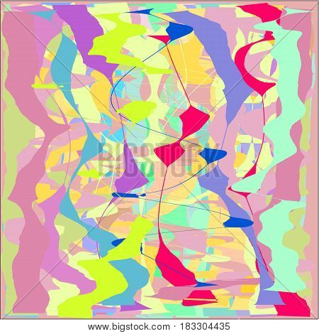Abstract writing texture pink and yellow and green and blue and light and dark tone, design for greeting cards and banners and posters
