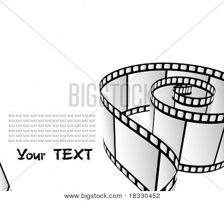 Curved photographic film poster