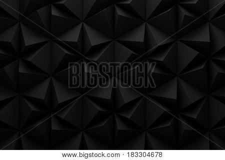 abstract black hexagon aperture blade technology background 3d render