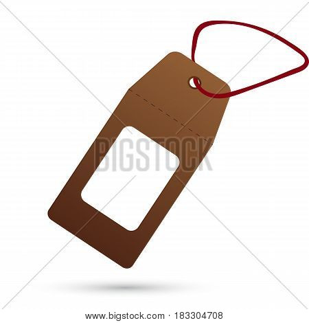 Icon template for tags on a white background