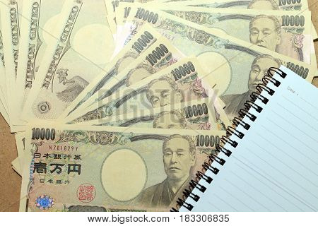 10000 Japanese Yen Note With On Japanese Yen Currency.