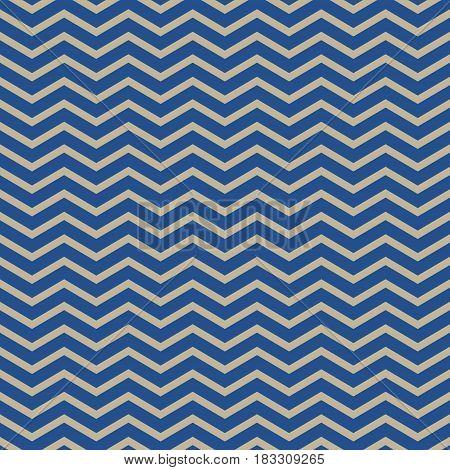 Seamless Pattern of Geometric Abstract Waves Pattern for Fabric and Wrapping Paper, Gold Waves on Blue Background ,Vector Illustration
