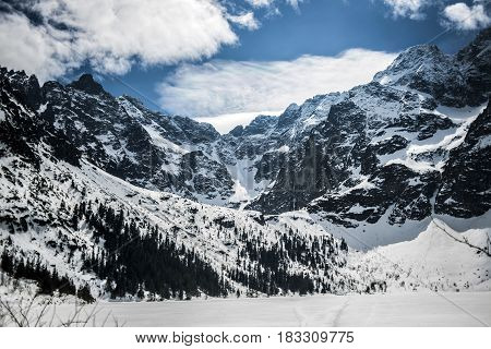 Tatry Polsih mountains in winter, Poland, Europe