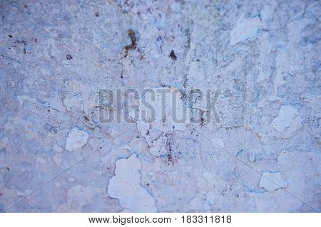 Grey wall with dabs of putty or paint.Texture or background