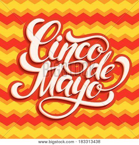 Cinco de Mayo lettering design. Vector illustration