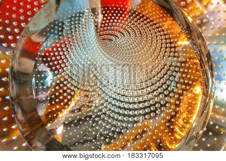 Glitter air bubbles in the glass colorful background abstract texture Soft focus