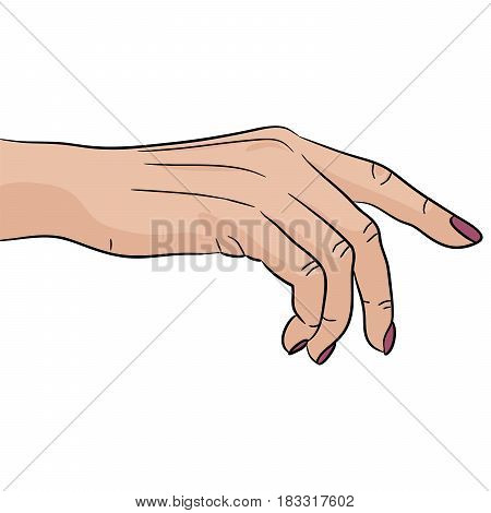Nail polish hand gesture beauty SPA women love