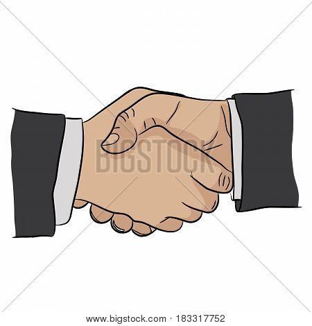 Handshake agreement business succes good offer job