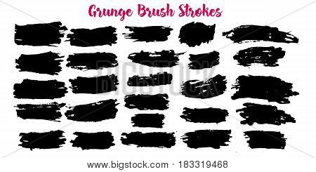 Set of grunge banners. Abstract stain backgrounds